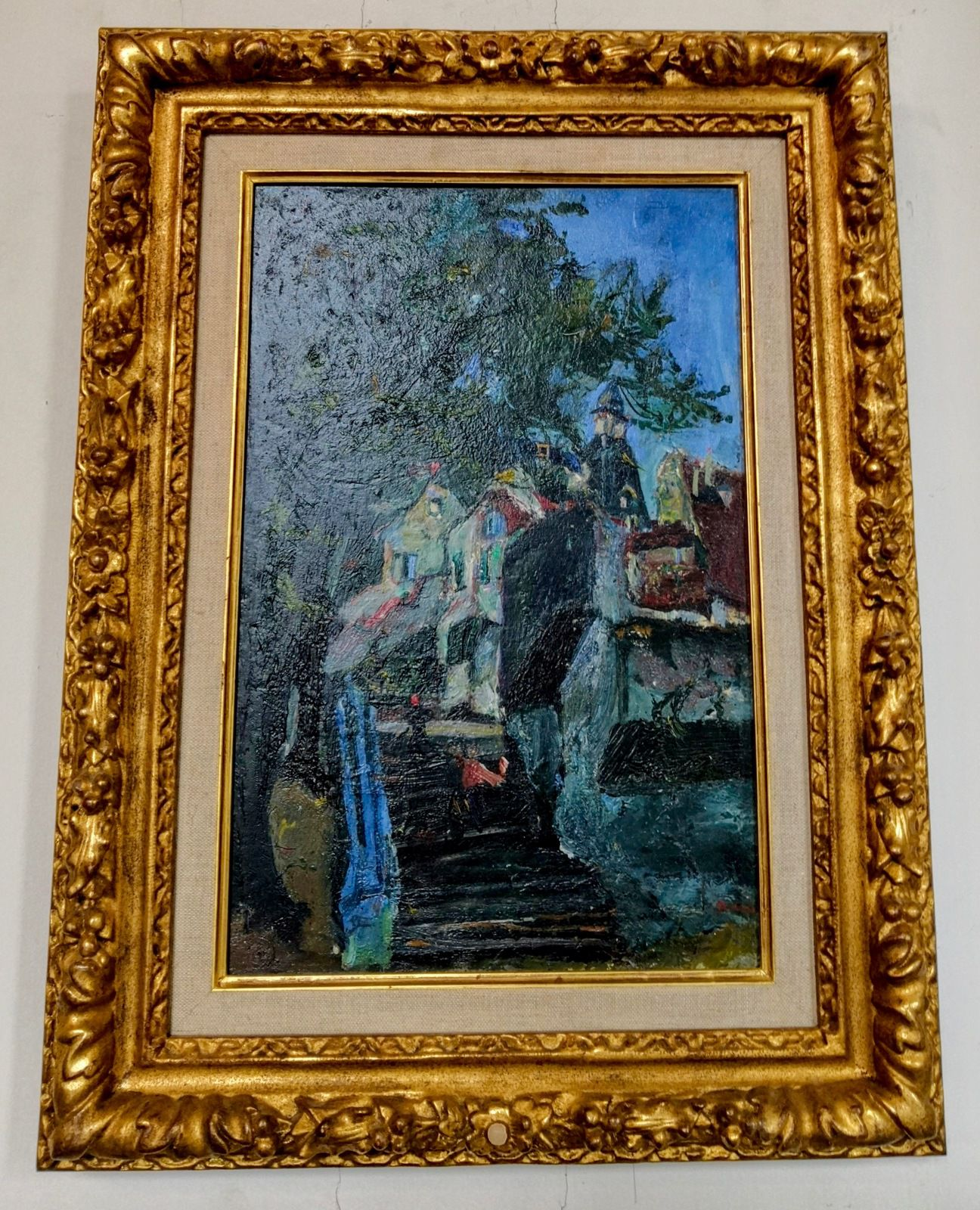 Chaïm Soutine (1893-1943), les Escaliers de Chartres, 1933, Huile sur toile