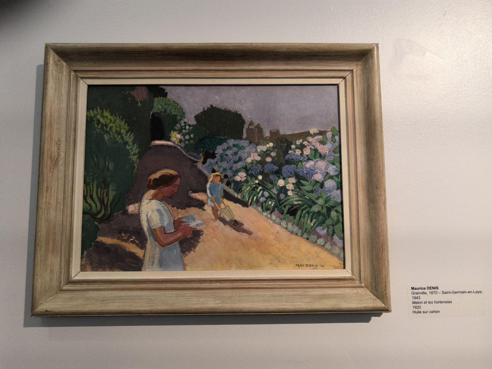 Maurice Denis, Malon et les hortensias, 1920, Huile sur carton