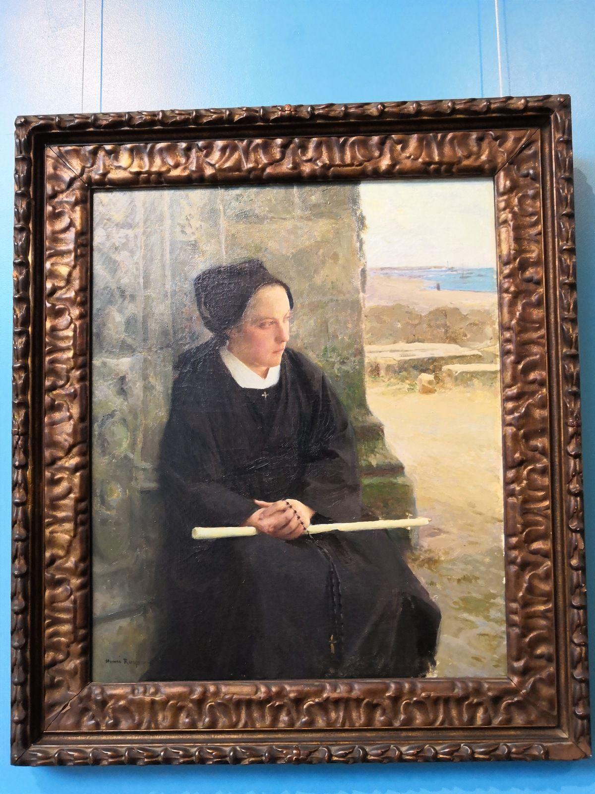 Henri Royer (Nancy, 1869 - Neuilly-sur-Seine, 1938), Jeune femme de l'île de Sein, 1906, Huile sur toile