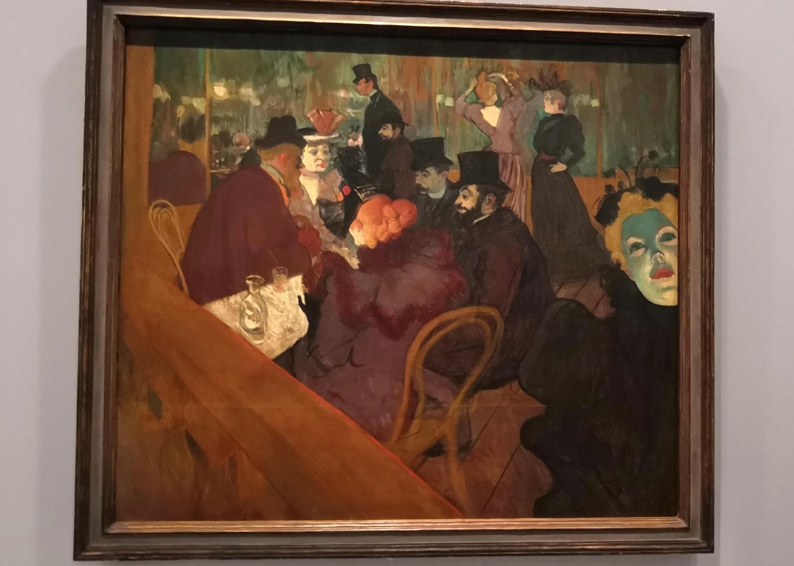 Au Moulin Rouge, 1892-1895, Huile sur toile, Chicago, The Art Institute of Chicago