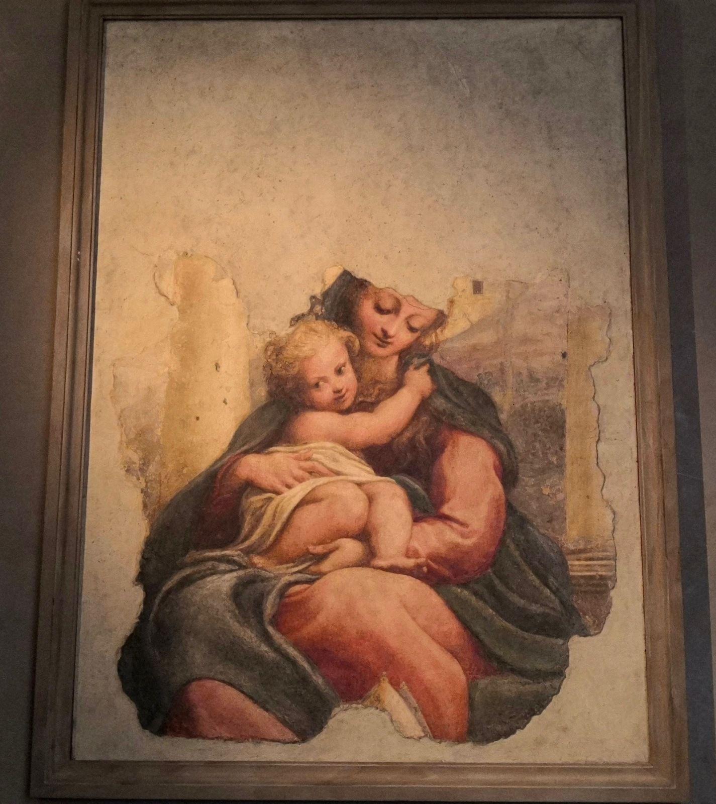 Antonio Allegri detto il Corregio, Madonna delle scala, 1524 circa, Affresco transportato di tela, Parma, porta di San Michele