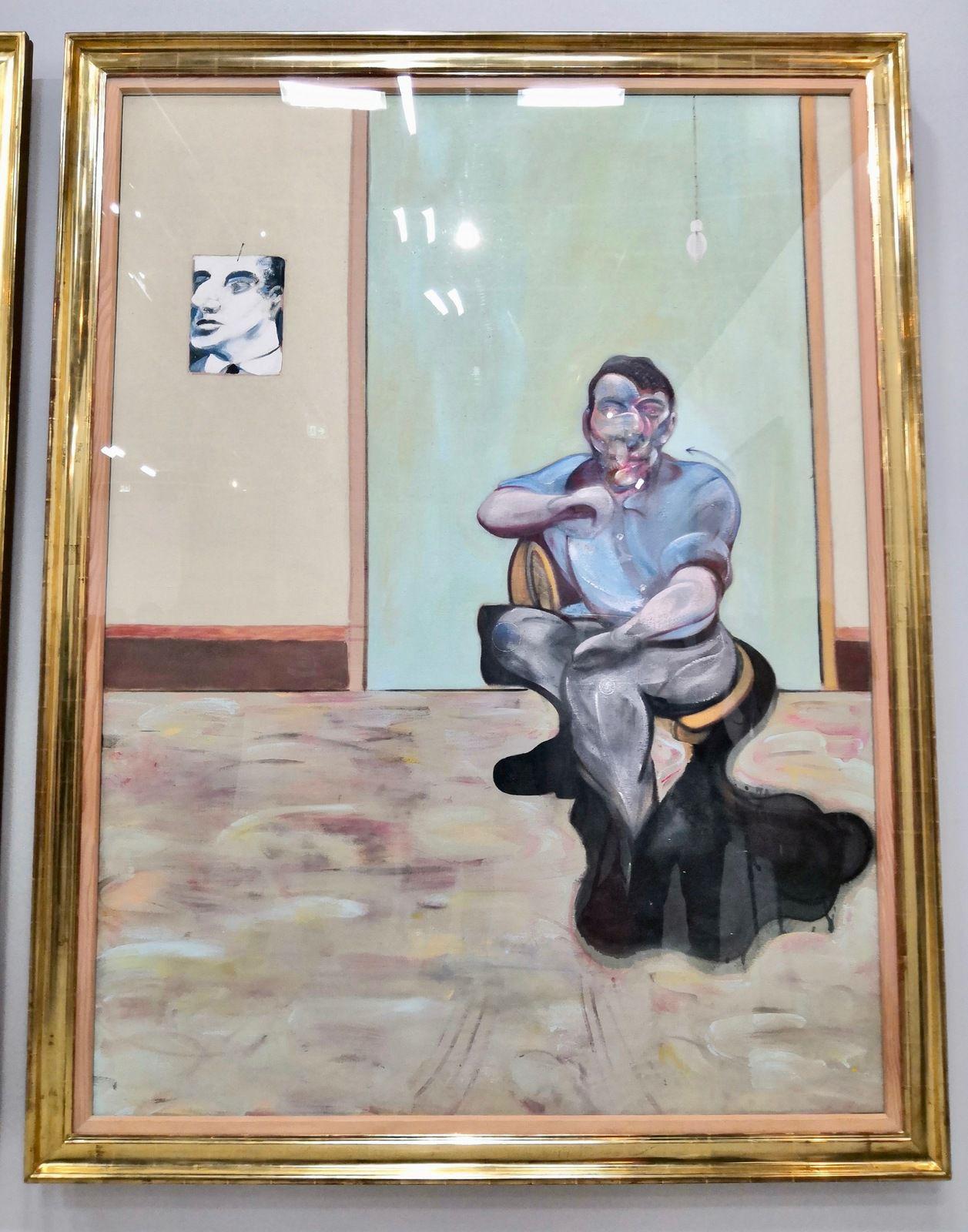 Trois portraits. Portrait posthume de George Dyer ; Autoportrait  ; Portrait de Lucian Freud, 1973, Esther Grether Family Collection