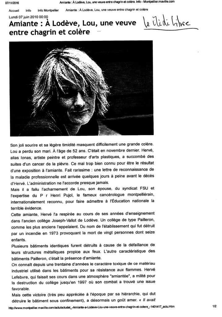 """Revue de Presse """"Spéciale Amiante"""""""