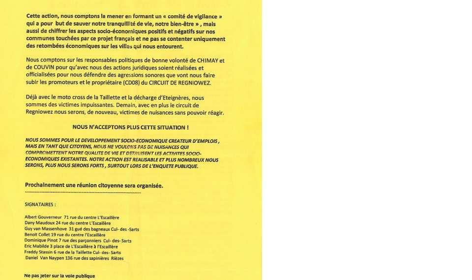 REGNIOWEZ: la Mobilisation Continue !