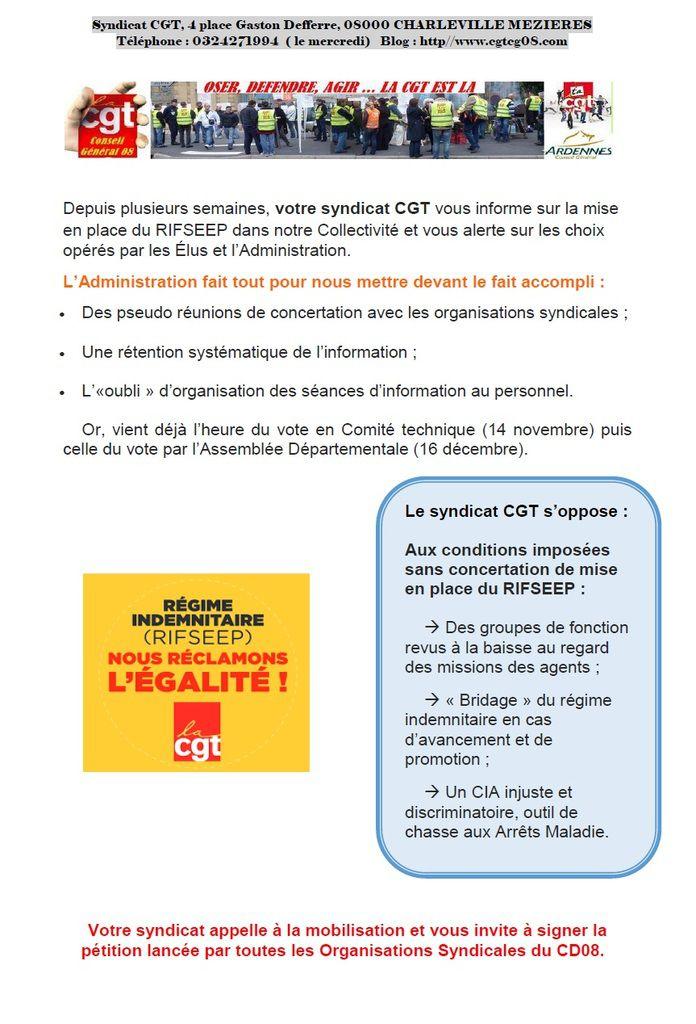 RIFSEEP: Réclamons l'Egalité !