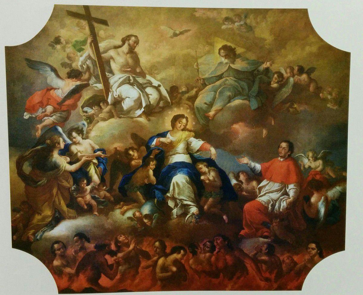 Risultati immagini per vergine maria libera le anime dal purgatorio immagini
