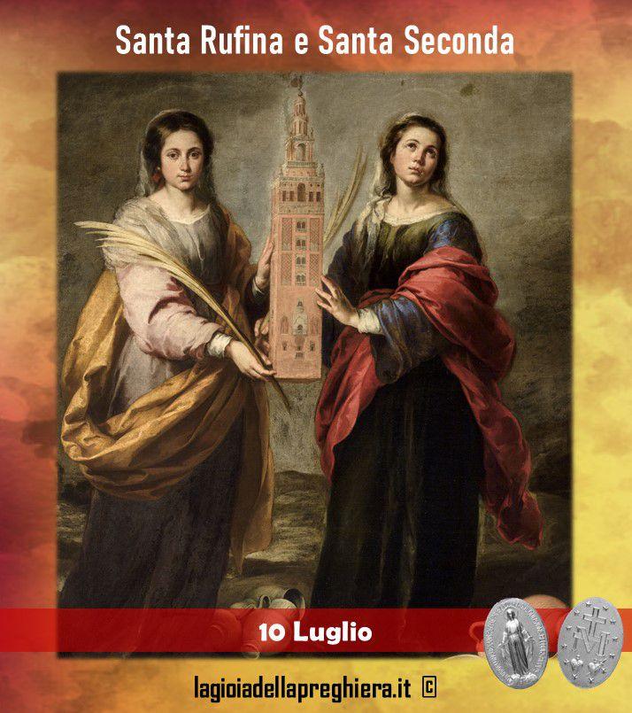 10 Luglio: Sante Rufina e Seconda - Preghiere e vita delle sante