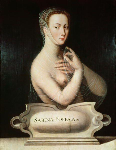 Ecole de Fontainebleau - Sabina Poppea vers 1560