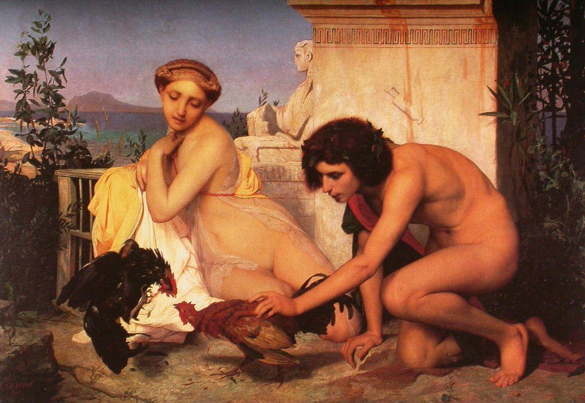 Jean-Léon Gérôme - Combat de coqs, 1846