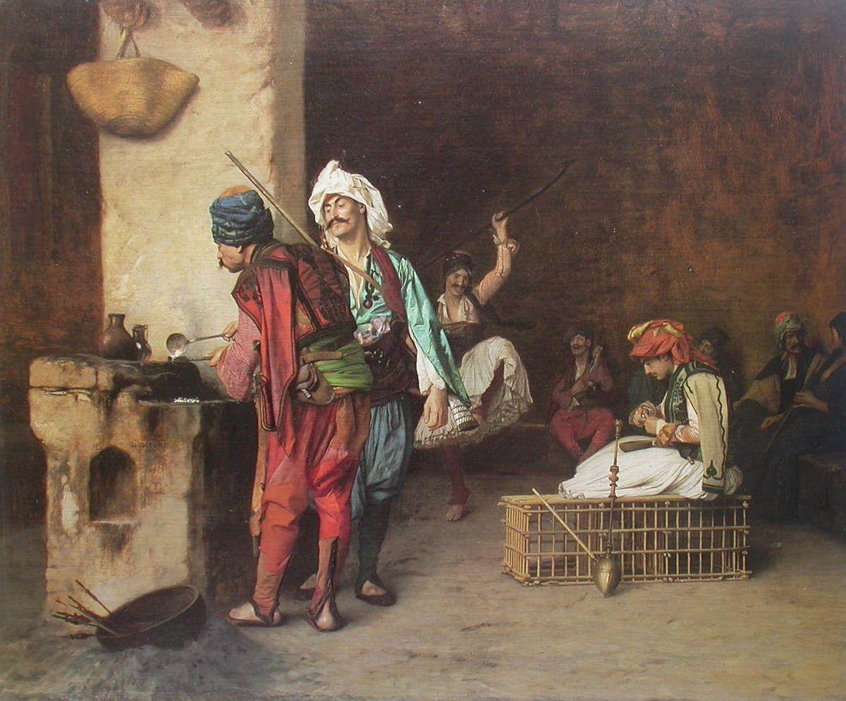 Jean-Léon Gérôme - Un café au Caire, 1883