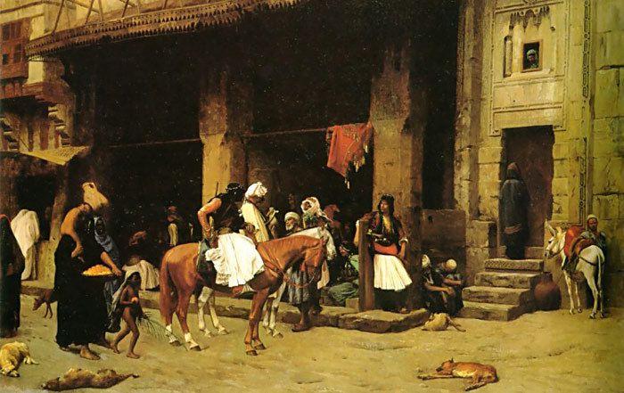 Jean-Léon Gérôme - Une scène de rue au Caire, 1871