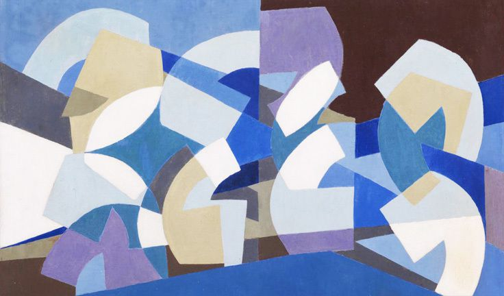 Saloua Raouda Choukair - Geometric East meets Abstract Expessionist West sd