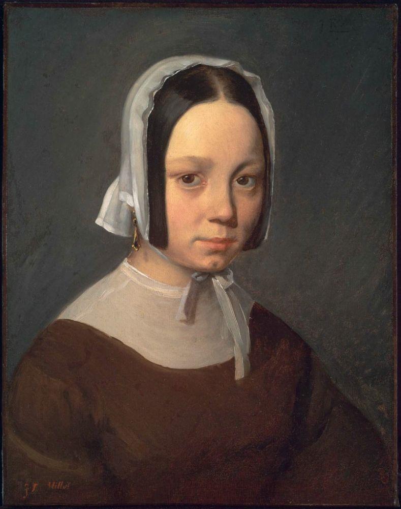 Jean François Millet - Madame Millet (Pauline Ono), 1841