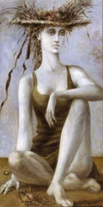 Max Ernst - Sous l'Esplanade (Dorothéa Tanning l'épouse du peintre), 1940