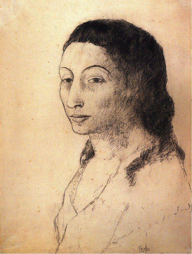 Picasso - Portrait de Fernande (Fernande Olivier), compagne du peintre de 1904 à 1909, 1906