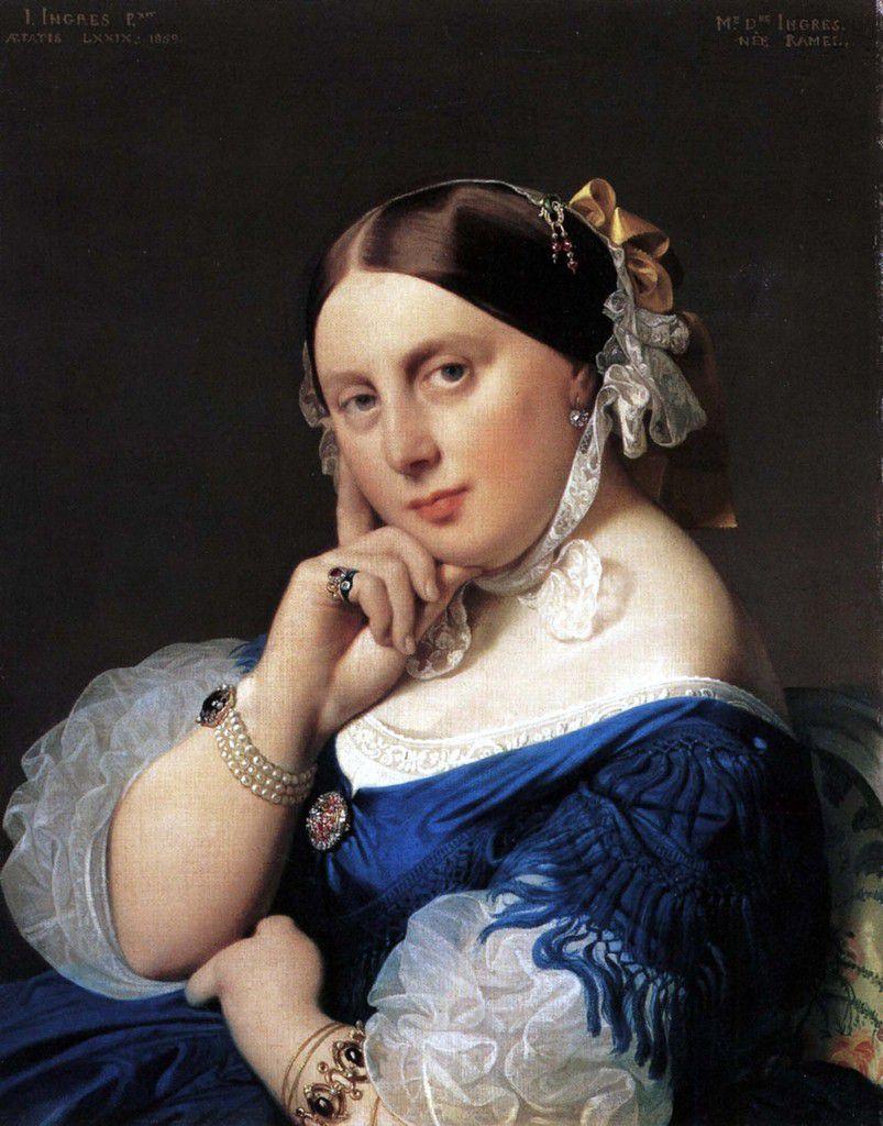 Ingres - Portrait de Delphine Ingres, seconde épouse du peintre, 1859