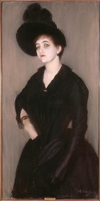 Jacques Emile Blanche - Portrait de Marie Blanche, épouse du peintre, 1888