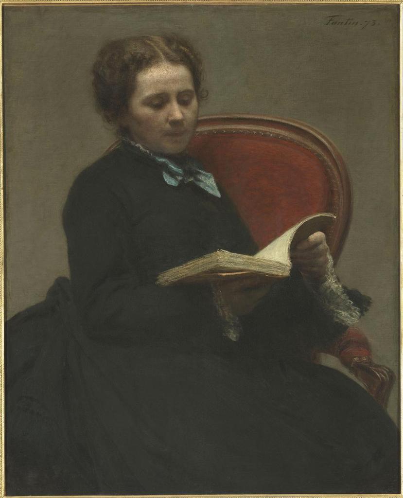 Henri Fantin-Latour - Portrait de Victoria Dubourg, femme de l'artiste, 1873