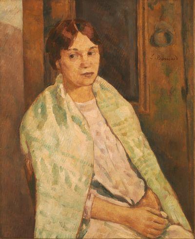 Emile Bernard - Portrait d'Andrée Fort (soeur du poète Paul Fort), maîtresse puis épouse d'Emile Bernard à la mort de Hannénah la 1ère femme du peintre, 1902