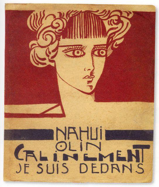 """Nahui Olin - Illustration pour """"Câlinement je suis dedans,"""" Poésie, 1923"""