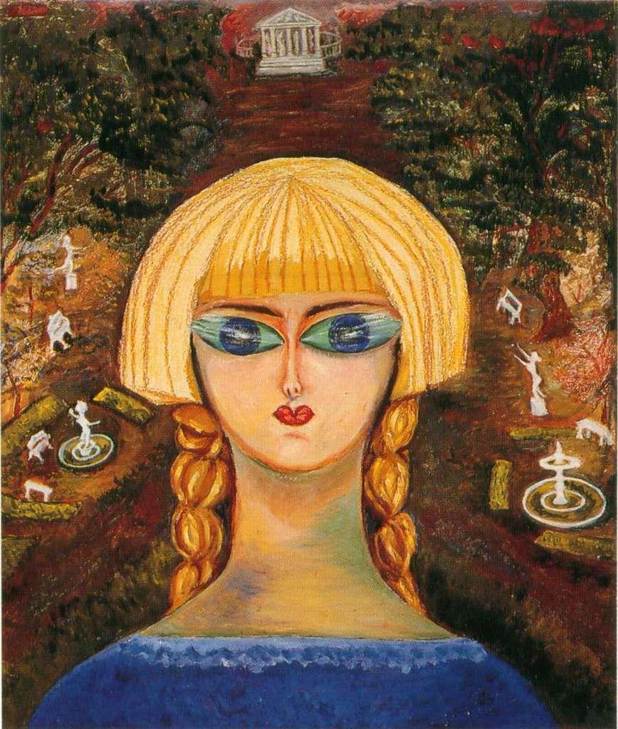 Nahui Olin - Autoportrait dans les jardins de Versailles