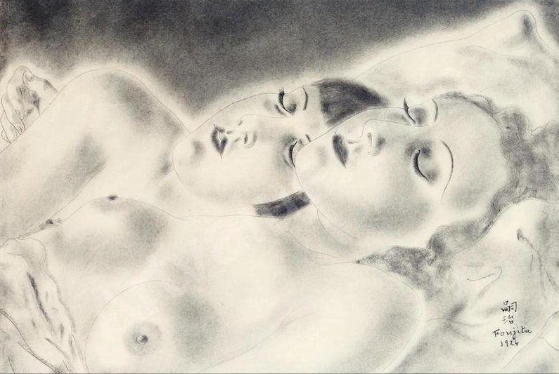 Foujita - Les deux amies, 1924
