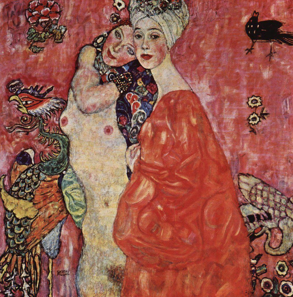 Gustav Klimt - Les deux amies, 1916/1917