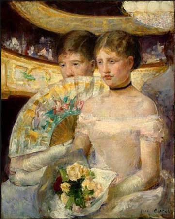 Mary Cassatt - Deux amies dans une loge du théâtre, 1882,