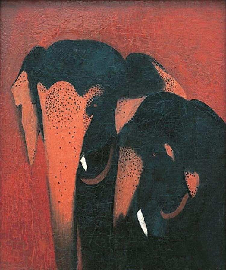 Deux éléphants, 1940