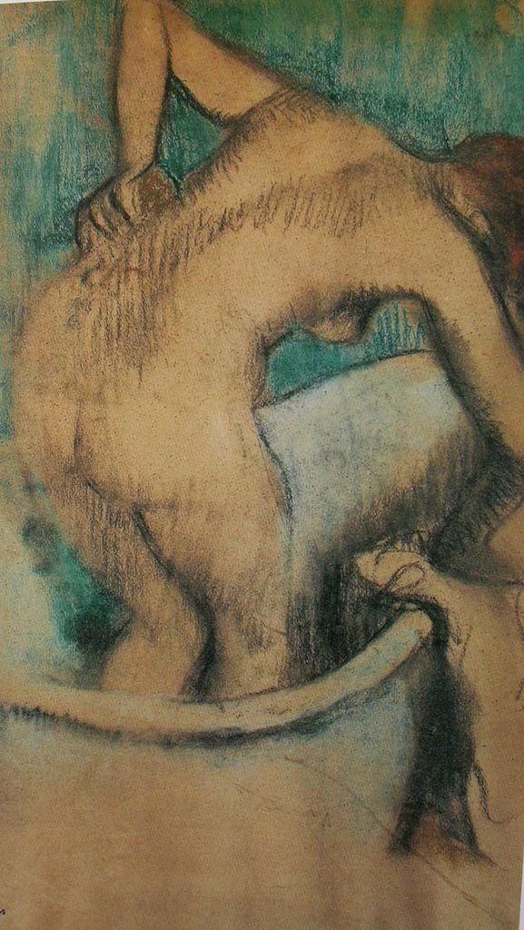 Degas - Le bain, femme s'épongeant, 1887