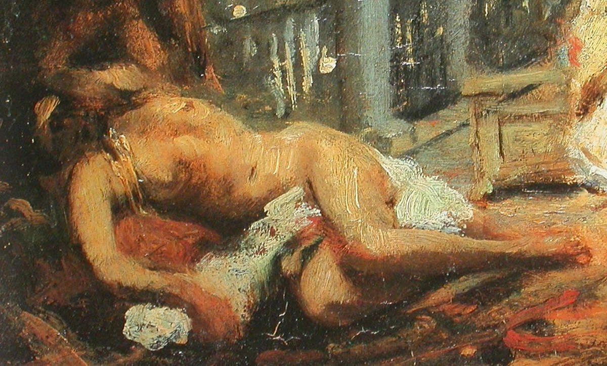 Jean Seignemartin - Scène orientale, Odalisque, 1875