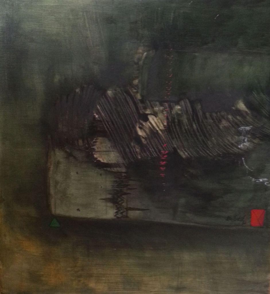 Bellakh - Sans titre, h/toile marouflée, 90x100 cl, 1992