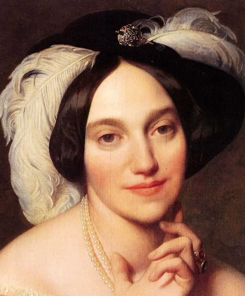 Jean Auguste Dominique Ingres - Baronne James de Rothschild (détail). 1848