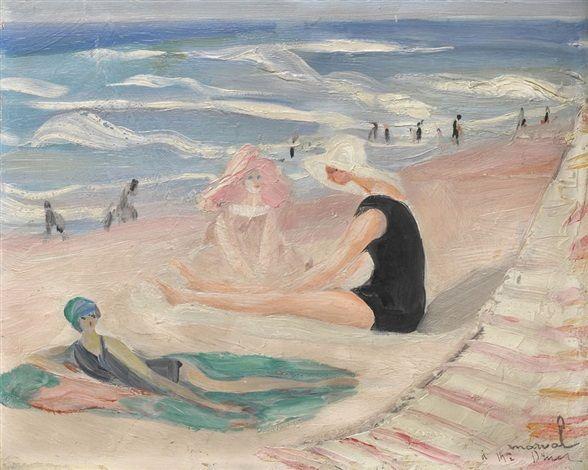 Jacqueline Marval - Baigneuse sur la plage de Biarritz, s.d.
