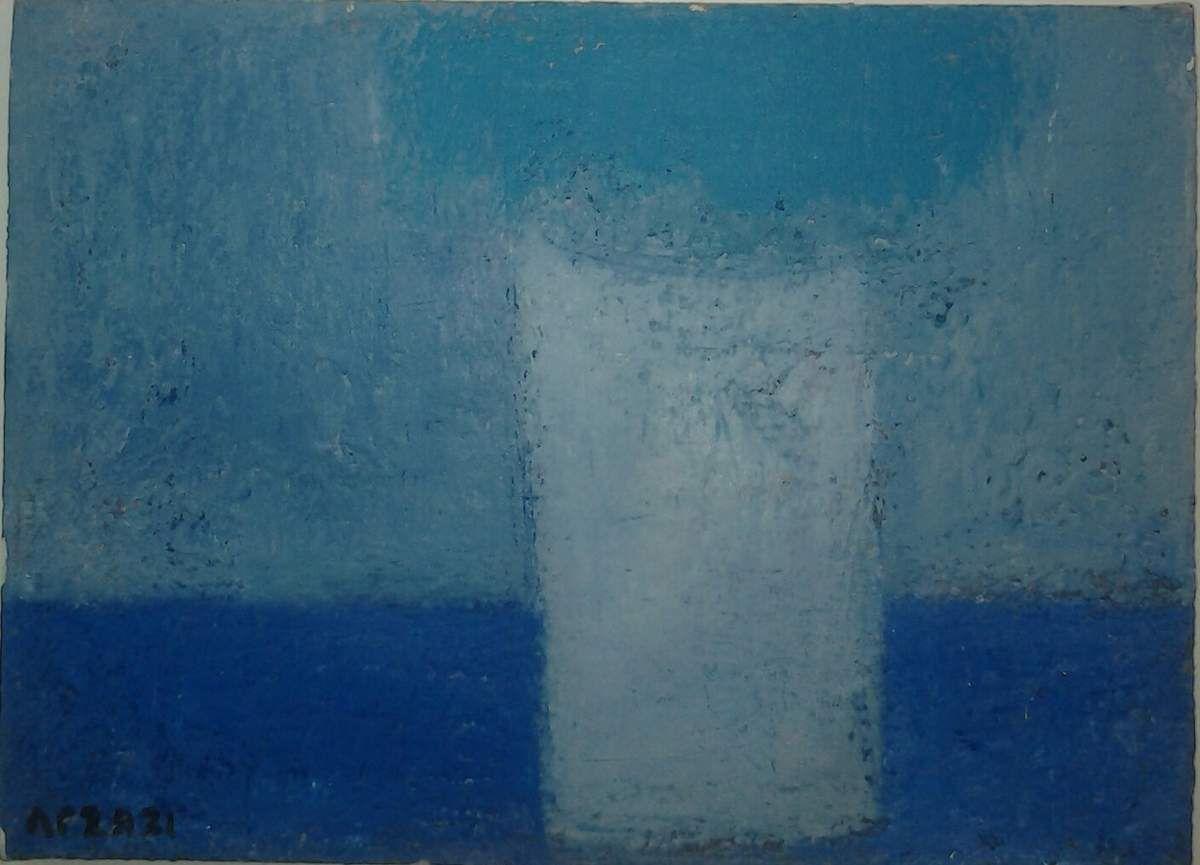 Arzazi - Le vase blanc, h/toile 34x24cm, 2014