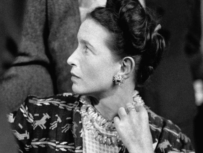 Simone de Beauvoir, née en 1908 - Présidente du comité de soutien à Djamila Boupacha