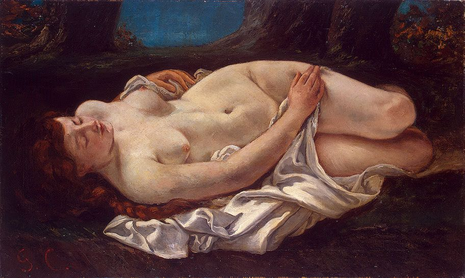 Gustave Courbet - Femme couchée, 1865/1866