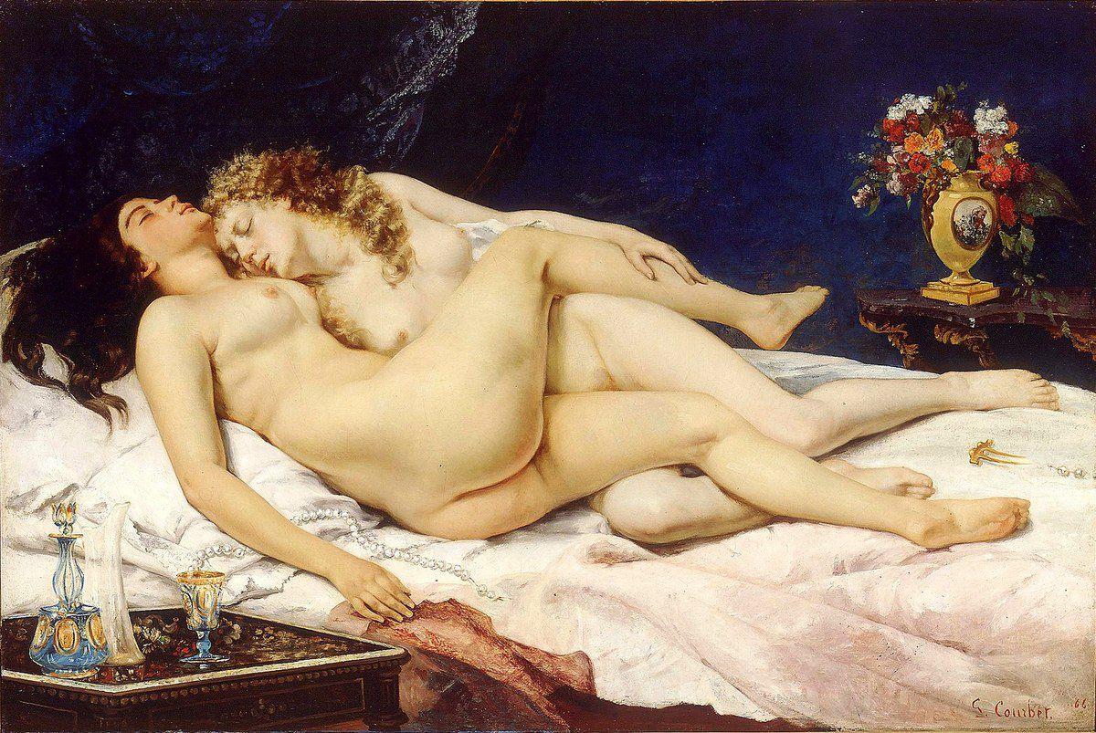 Gustave Courbet - Le_Sommeil dit aussi Les Deux Amies et Paresse et luxure, 1866