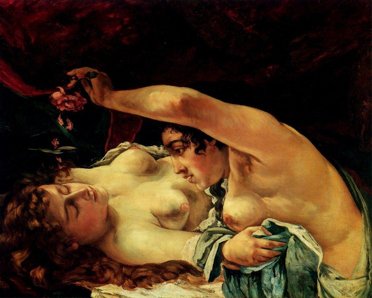 Gustave Courbet - le Réveil ou Venus et Psyché, 1866