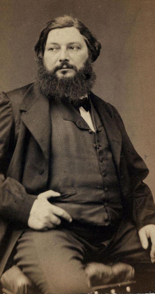 Gustave Courbet photographié avant 1867 par Pierre Petit.