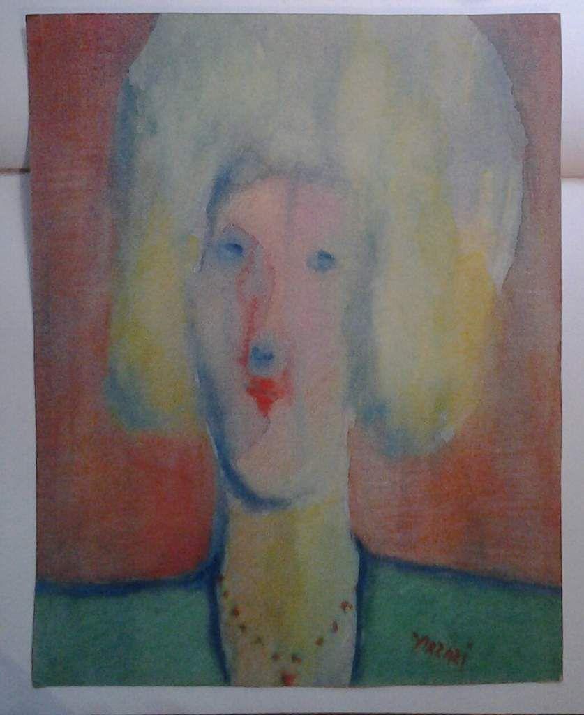 Arzazi - Portrait, aquarelle sur papier, 1990