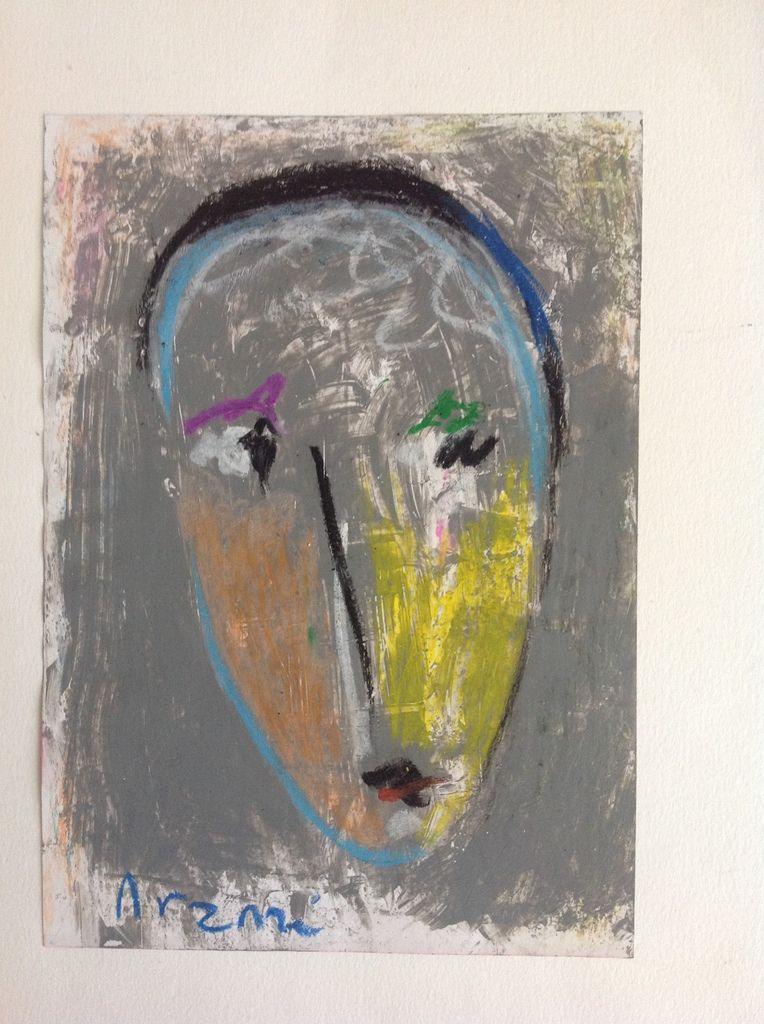 Arzazi - Portrait, pastel sur papier, 2010