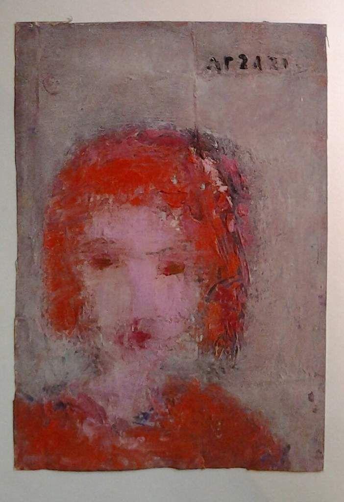 Arzazi - Portrait. huile sur carton. 2015