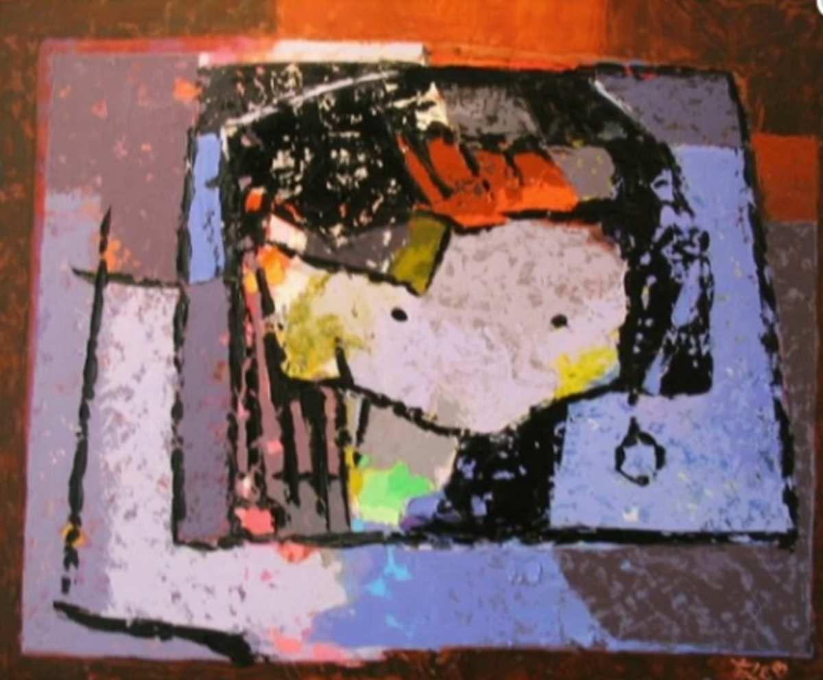 Amar  Eric Taleb - Petit prince, h/t 50x40cm, sd