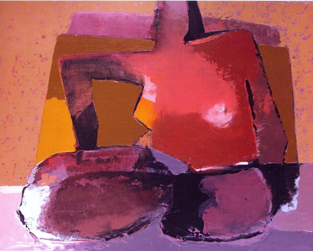 Amar  Eric Taleb - Femme au corps d'argile, h/t 60x50cm, sd