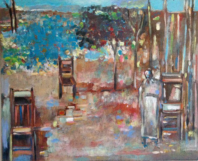 Guermaz - Sans titre, 1990, hsb, 42x51cm