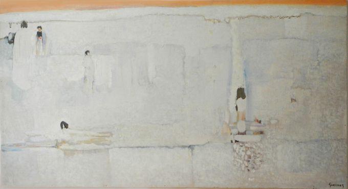 Guermaz - Plage boréale, 1978, hsb, 44x83cm