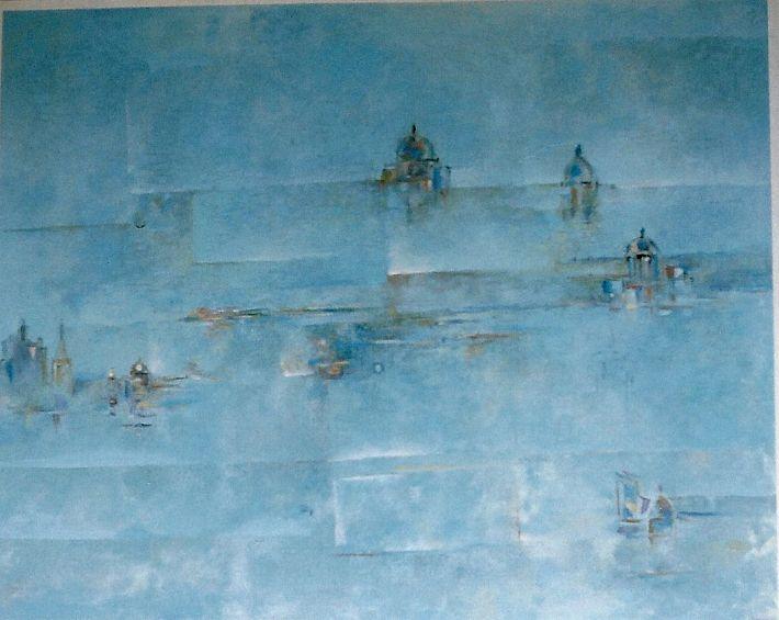 Guermaz - Regard sur Venise, 1990, hst, 80x100cm