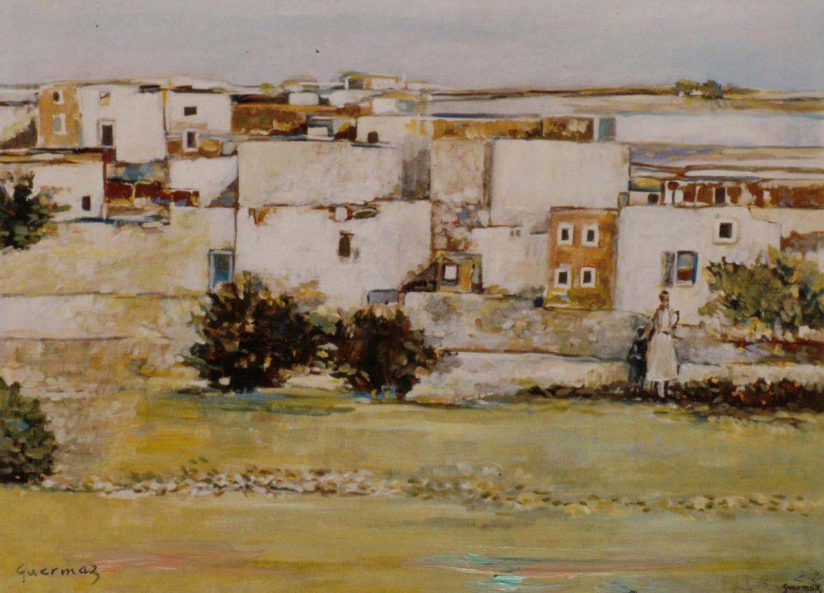 Guermaz - Sans titre, 1950, hst