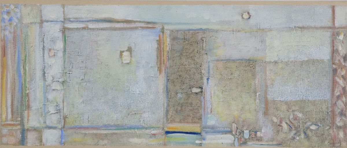 Guermaz - La petite porte, 1996, hsb, 21x50cm